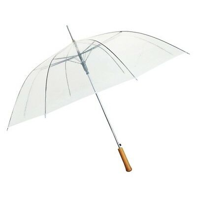 "48"" Clear BULK PACK of 48 Umbrellas - NEW with DEFECT - Works Perfectly!"