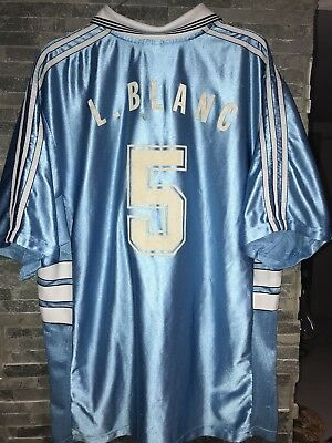 Maillot Foot ADIDAS OM OLYMPIQUE de MARSEILLE (Laurent BLANC) ancien COLLECTOR