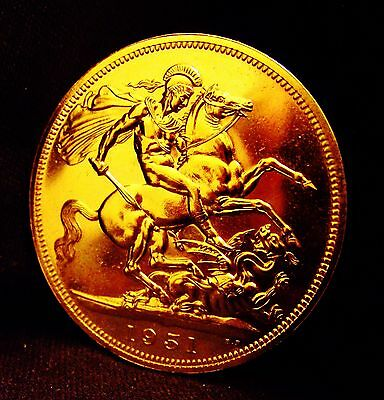 1951 George Vl Festival of Britain Crown 24k GOLD Plated