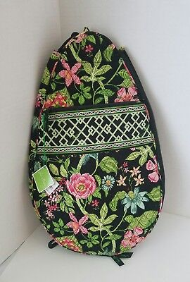 Vera Bradley Botanica Crossbody Tennis Racquet Cover Retired NEW