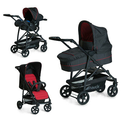 Travel System 3in1 Rapid 4 Plus Caviar/Tango 149546 Hauck