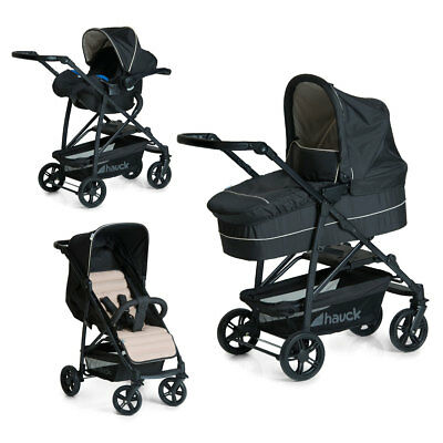 Travel System 3in1 Rapid 4 Plus Caviar/Beige 149539 Hauck