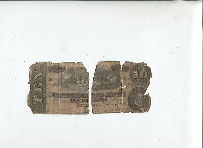 Billet 10 dollars USA 1764, Confédérate states of América, Richmond