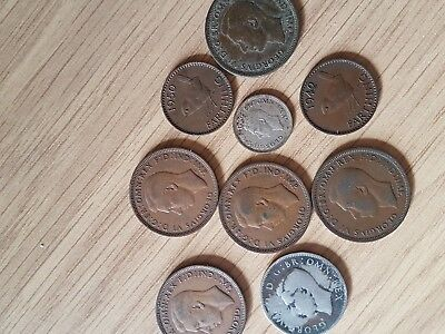 George VI Selection of mixed coins
