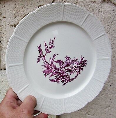 No4:Géo Rouard & Wedgwood:Assiette Mennecy Etruria England