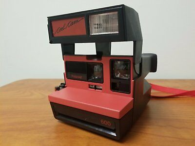 Polaroid Cool Cam 600 Red One Step Close Up Instant