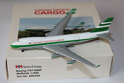 Herpa Wings Cathay Pacific Cargo Boeing 747-400F 1:500 OVP Selten RARE