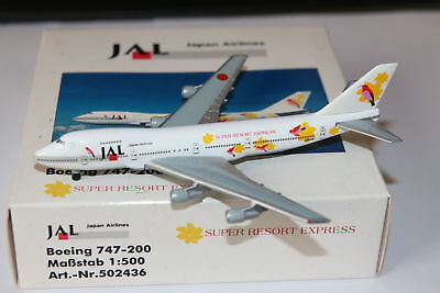 Herpa Wings JAL Japan Airlines Boeing 747-200 Super Resort Express 1:500 OVP