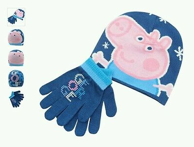 New PEPPA PIG - George Pig Infants boys 2 Piece Set Beanie hat and Gloves