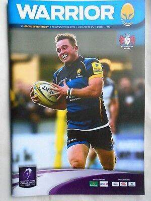 worcester warrior  v  gloucester rugby  2015 RUGBY PROGRAMME free p&p to uk