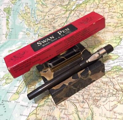 Swan Mabie Todd Safety Screw Cap Fountain Pen-Box-No Reserve!