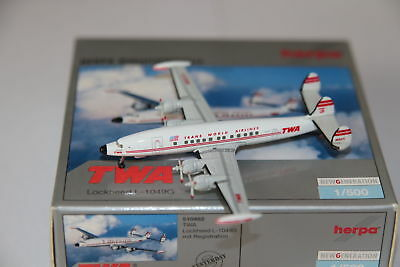 Herpa Wings TWA Trans World Airlines Lockheed L-1049G 1:500 OVP