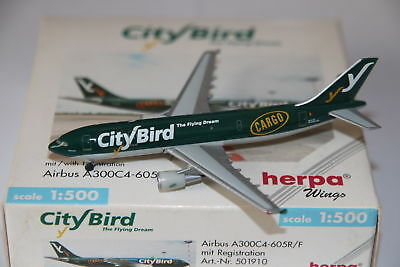 Herpa Wings City Bird Airbus A300C4-605R/F 1:500 OVP