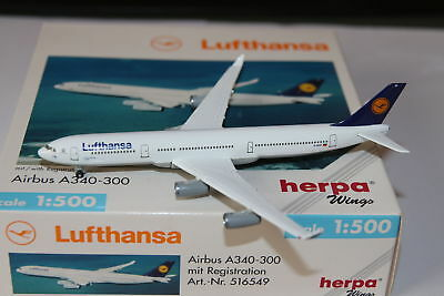 Herpa Wings Lufthansa Airbus A340-300 1:500 OVP