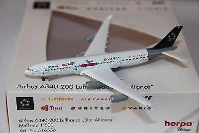 Herpa Wings Lufthansa Airbus A340-200 Star Alliance 1:500 OVP NG