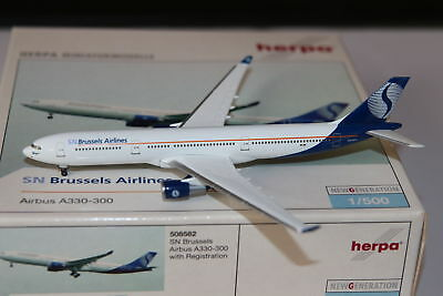 Herpa Wings SN Brussels Airlines Airbus A330-300 1:500 OVP NG