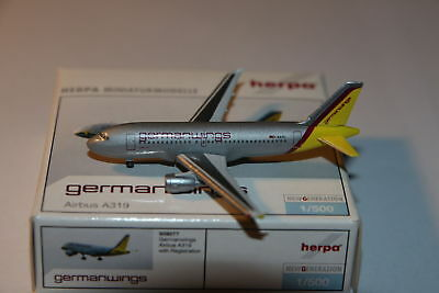 Herpa Wings germanwings Airbus A319 1:500 OVP NG
