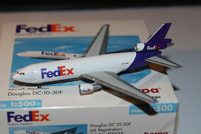 Herpa Wings FedEx Douglas DC-10-30 1:500 OVP