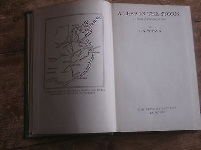 A Leaf In The Storm Lin Yutang Reprint Society First Edition 1943 Military/war