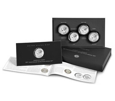 American Liberty 225th Anniversary Silver Four-Medal Set Confirmed Order
