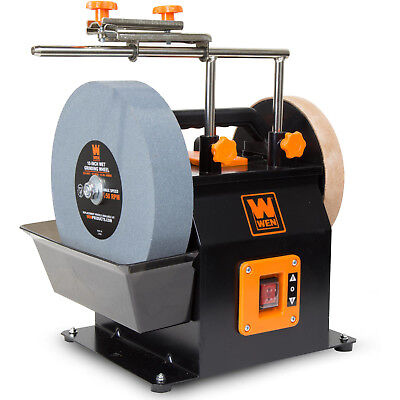 New WEN 10 Inch 2 Direction Water Cooled Wet Dry Sharpening System 115 RPM