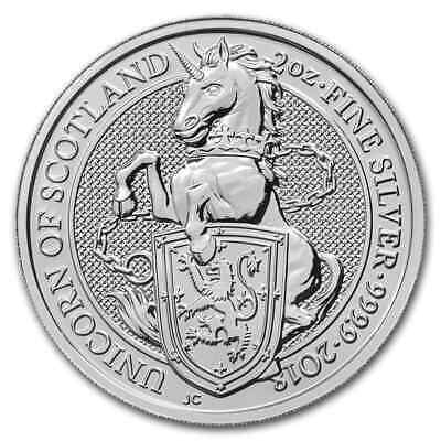 2018 Great Britain 2 oz Silver Queen's Beasts The Unicorn - SKU #152535