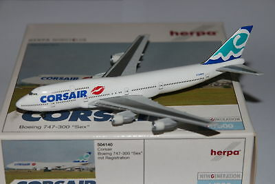 Herpa Wings Corsair Boeing 747-300 Sex 1:500 OVP NG