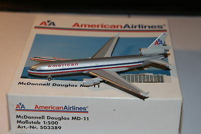 Herpa Wings American Airlines McDonnell Douglas MD-11 1:500 OVP