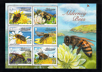 alderney 2009 aurigny abeille bees insects honey insectes miel ms 6v + 6v mnh **