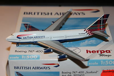 Herpa Wings British Airways Boeing 747-400 1:500 OVP