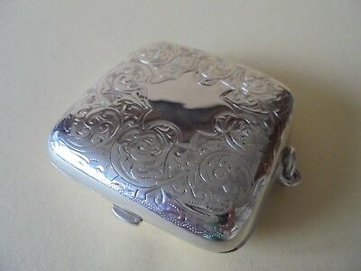 Antique Sterling Silver Combination Double & Half Sovereign / Stamp Case 1904