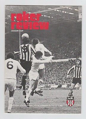 Orig.PRG   League Cup  1973/74  3.Round    SUNDERLAND - LIVERPOOL FC  !!  RARE