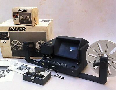 Vintage Moviola Pro Bauer F-20 Splicer K-20  Betrachter Visionneuse Super 8