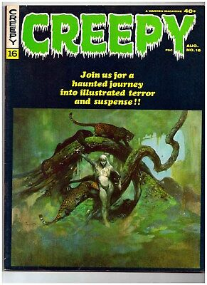CREEPY #16 * Warren Magazine * Frank Frazetta Cover * 8.0 Very Fine