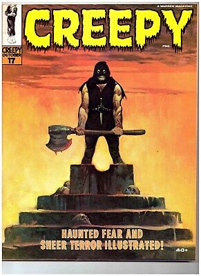 CREEPY #17 * Warren Magazine * Frank Frazetta Cover and Story Art  9.4 Near Mint