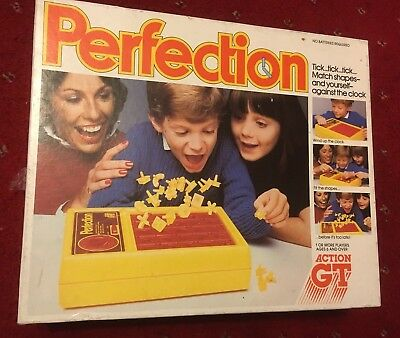 Vintage Perfection Family Board Game By Action Gt - Complete, Instructions