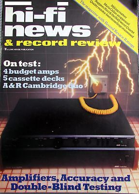 Hi-Fi News Classic Retro Vintage Amplifiers Preamps Cassettes See Below Contents