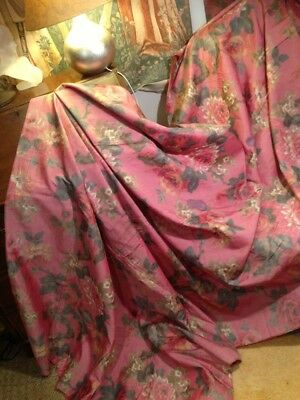 Old French Blurred Fabric. 50X120Ins. Heavyweight. Lovely