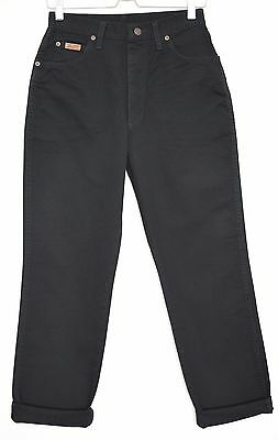 Vintage Wrangler LUCY Straight Leg BLACK High Waisted Jeans Size 10 W28 L30