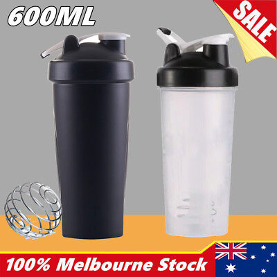 600ml Plastic Sport Gym Protein Powder Shaker Mixer Cup Drink Portable Bottle