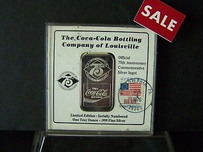 -First Day- The Louisville Coca Cola Bottling Company With Commemorative Stamps