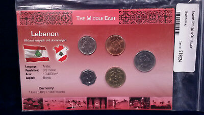 UNCIRCULATED Lebanon Coin Set and Certificate