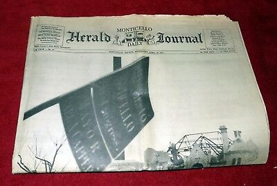 Monticello Indiana Herald News paper 1974 after disaster.