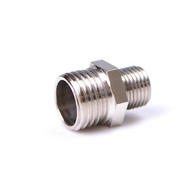 1/4'' BSP Male to 1/8'' BSP Male Airbrush Hose Adaptor Fitting Connector TO