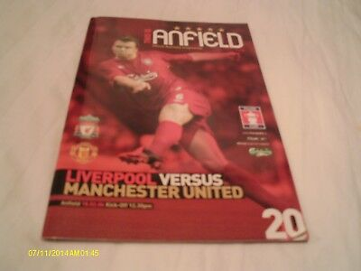 Liverpool V Manchester Utd Fa Cup Programme 2006