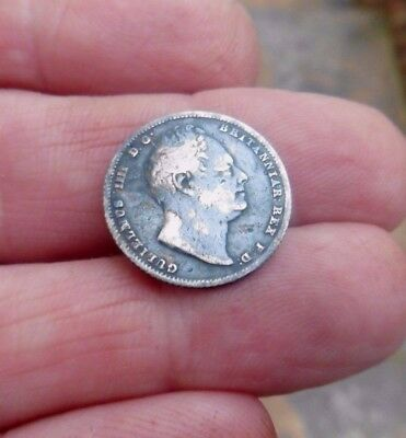 William Iv Milled 1836 Silver Sixpence Coin