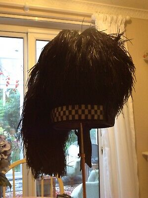 Scottish pipers Feather bonnet