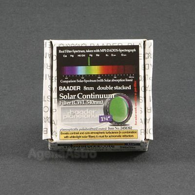 """Baader Double Stacked Solar Continuum Filter - 1.25"""" # FSOL-1D 2458392"""