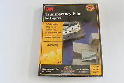 *NEW* 3M Transparency Film PP2500 For Copiers 100 Sheets 8.5x11