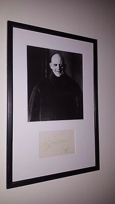 Autographed Addams Family Uncle Fester Photo Hand-signed by Christopher Lloyd